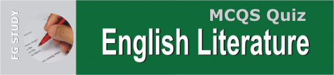 English Literature MCQS Online Test Image By FG STUDY