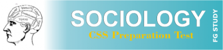 CSS Sociology Paper MCQS Online Test
