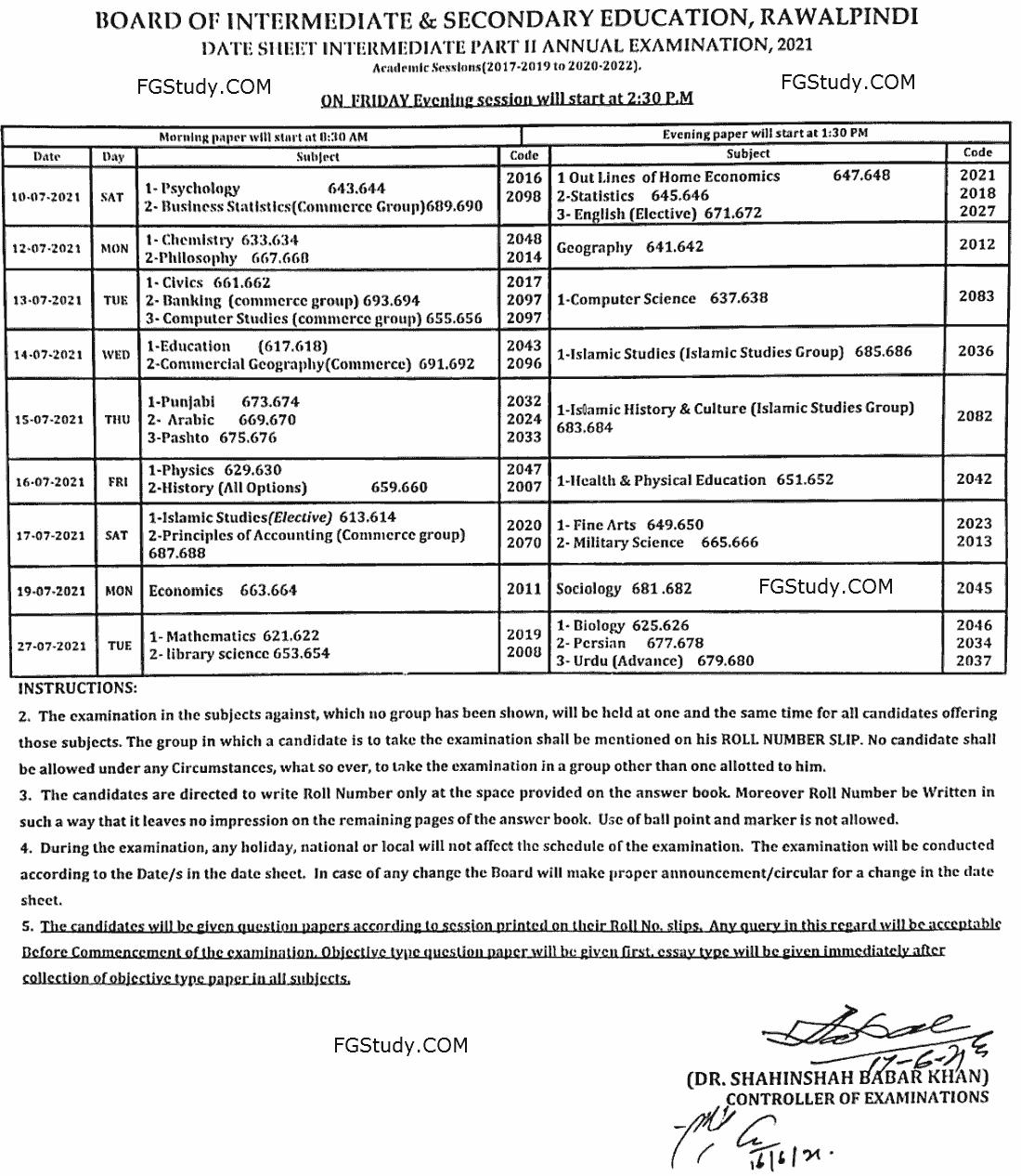 12th-class-date-sheet-rawalpindi-board-2021
