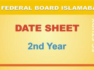 fbise date sheet 12th class image